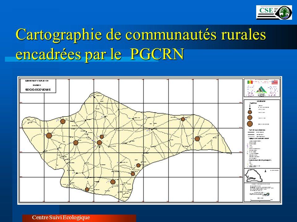 Cartographie de communautés rurales encadrées par le PGCRN