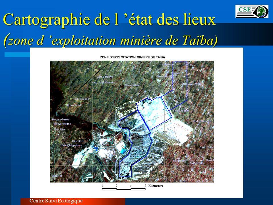Cartographie de l 'état des lieux (zone d 'exploitation minière de Taïba)