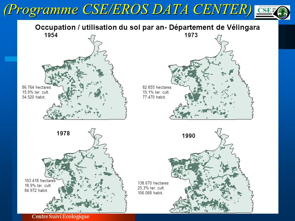 (Programme CSE/EROS DATA CENTER)