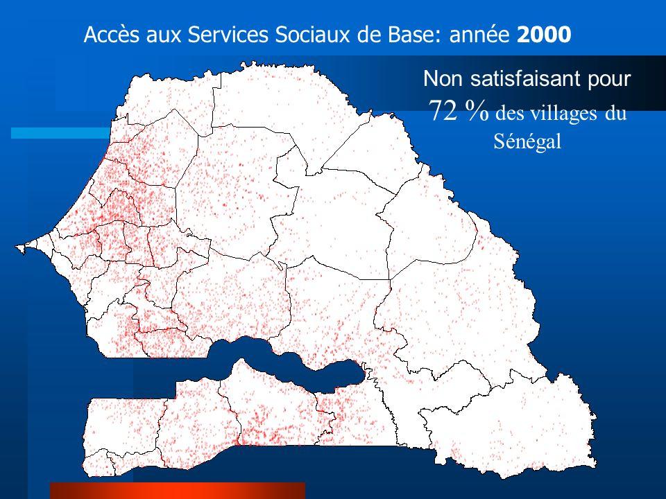 Non satisfaisant pour 72 % des villages du Sénégal