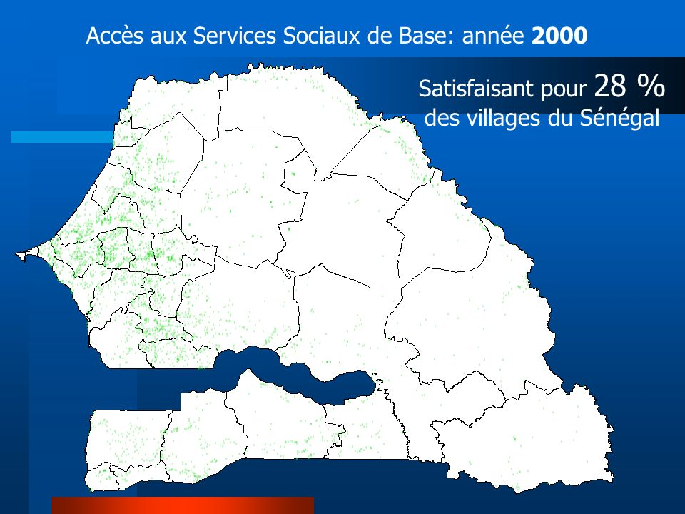 Satisfaisant pour 28 % des villages du Sénégal