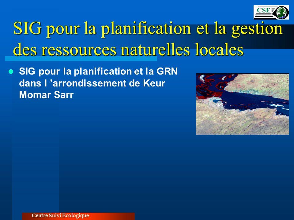 SIG pour la planification et la gestion des ressources naturelles locales