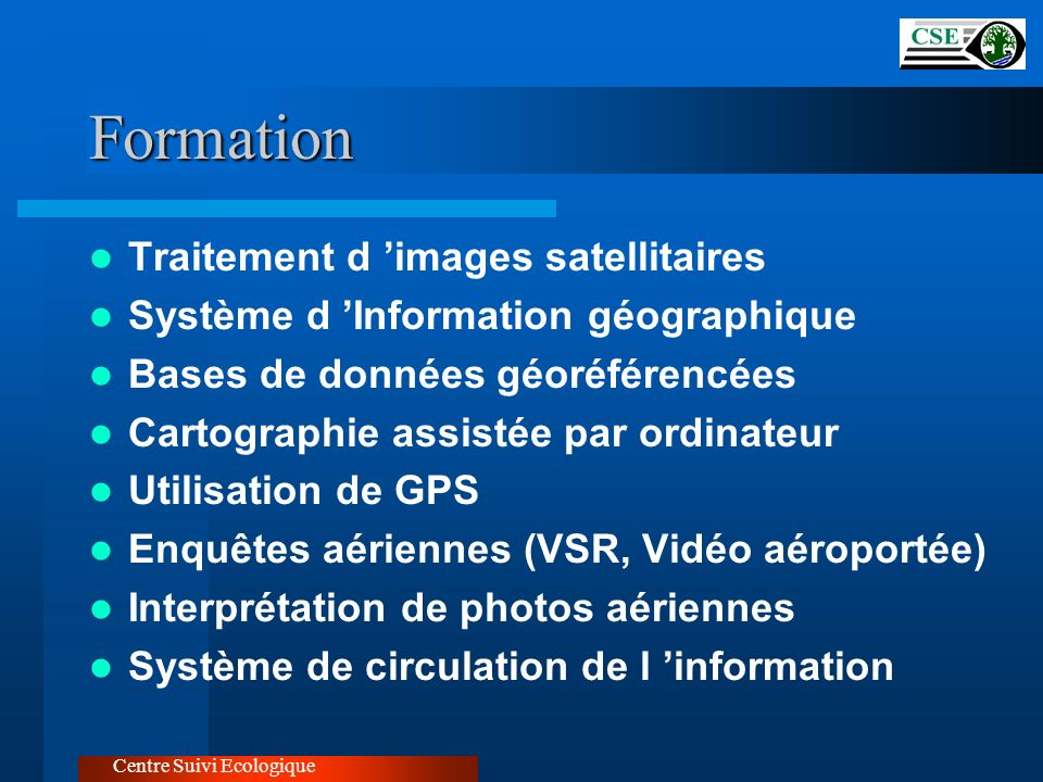 Formation Traitement d 'images satellitaires