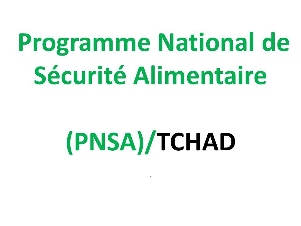 Programme National de Sécurité Alimentaire (PNSA)/TCHAD