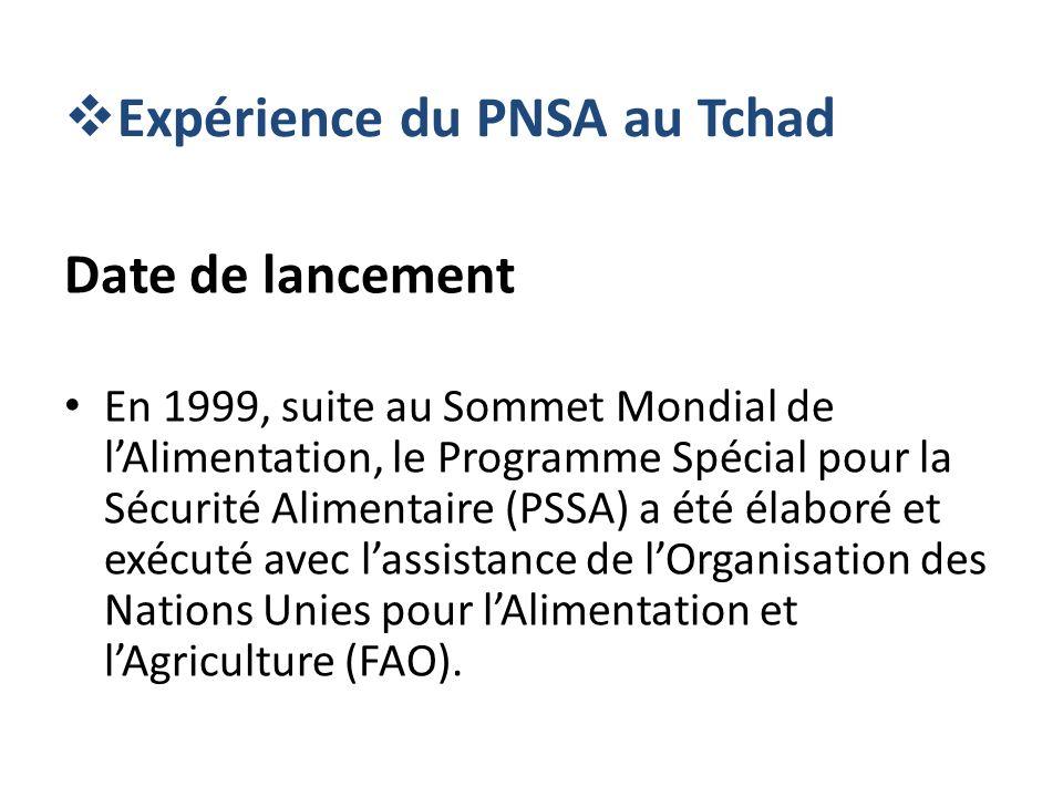 Expérience du PNSA au Tchad
