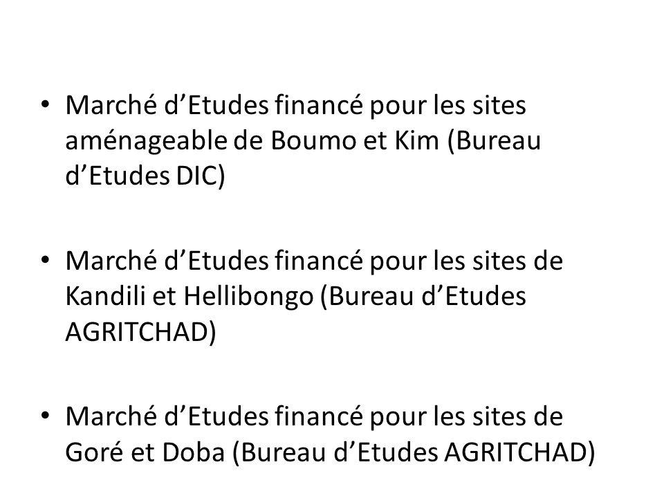 Marché d'Etudes financé pour les sites aménageable de Boumo et Kim (Bureau d'Etudes DIC)