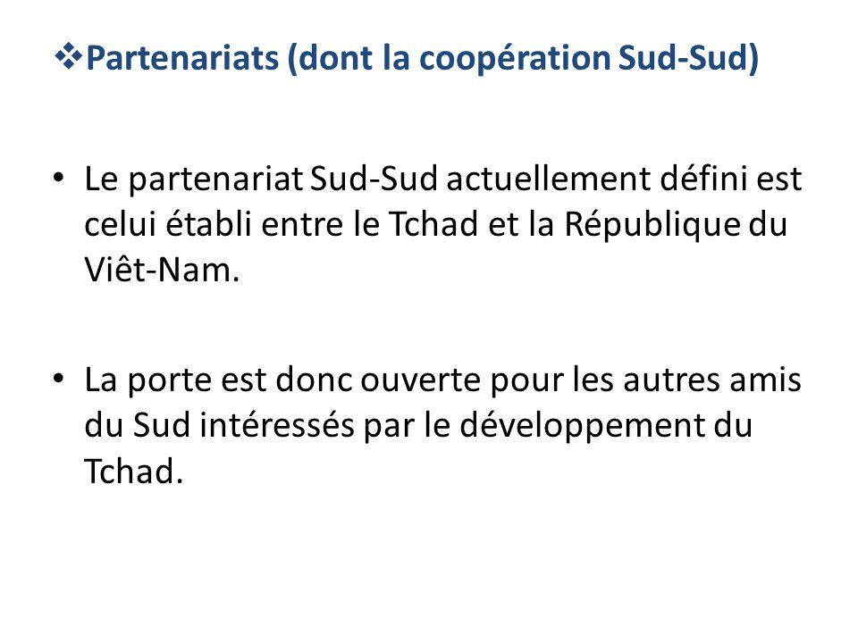 Partenariats (dont la coopération Sud-Sud)