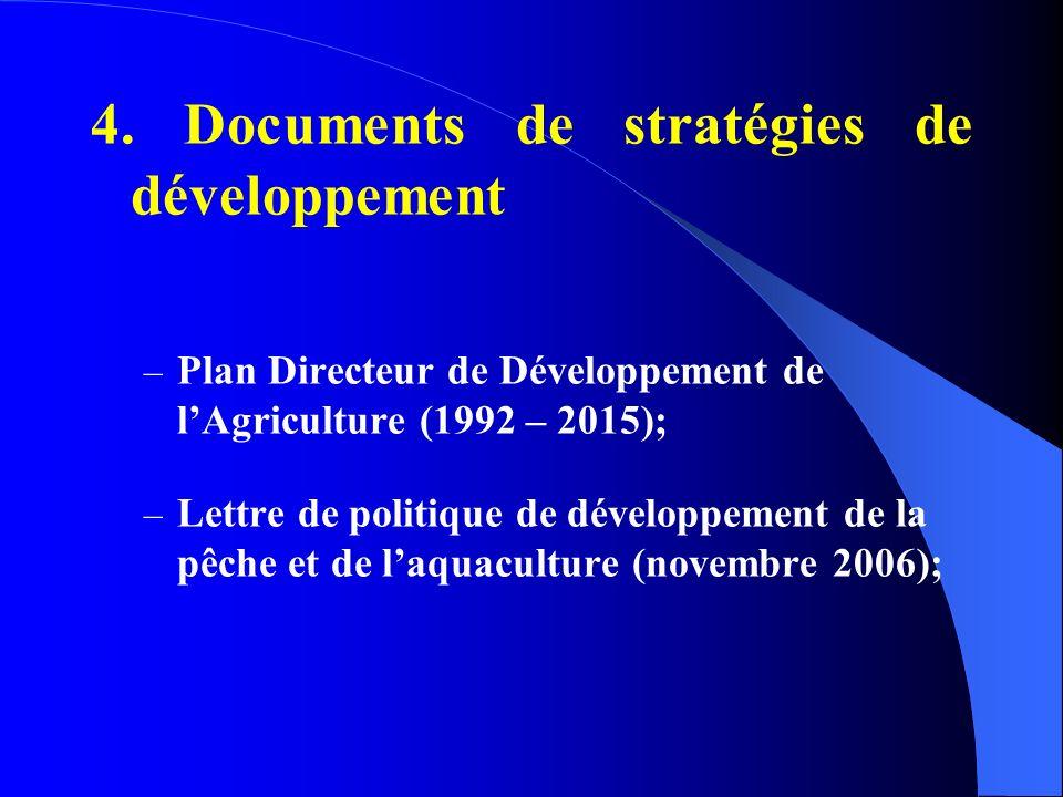 4. Documents de stratégies de développement