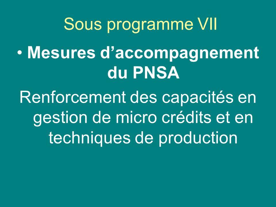 Mesures d'accompagnement du PNSA