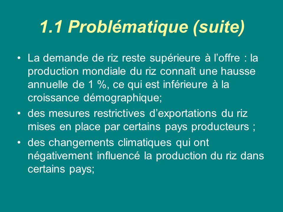 1.1 Problématique (suite)