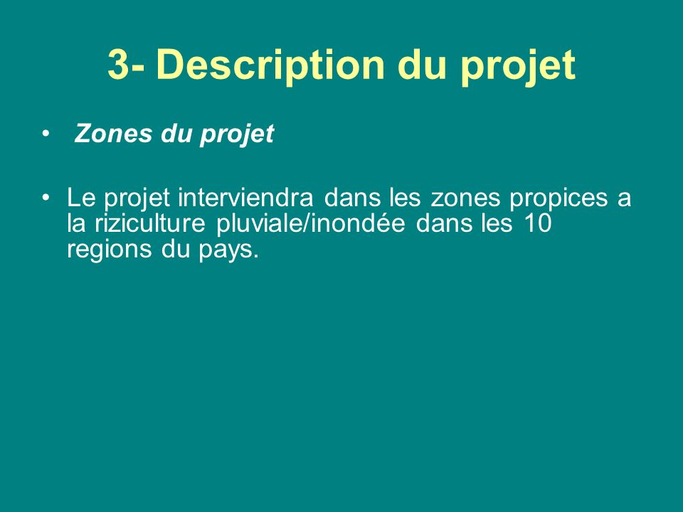 3- Description du projet