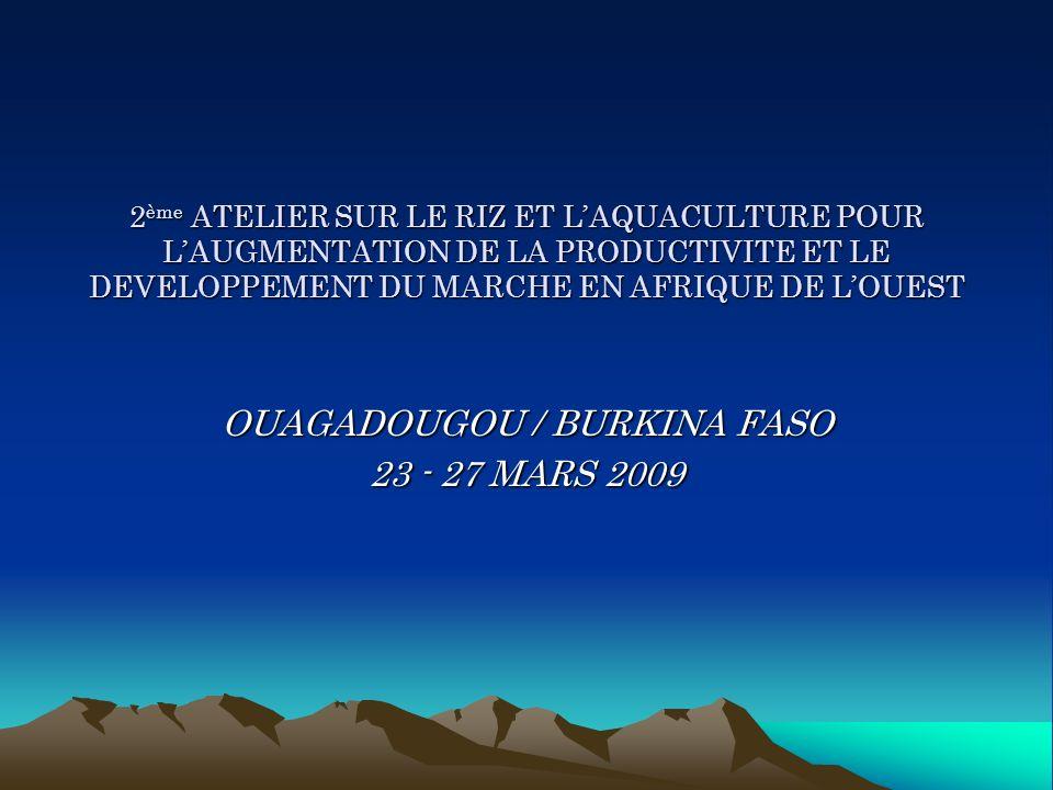 OUAGADOUGOU / BURKINA FASO 23 - 27 MARS 2009