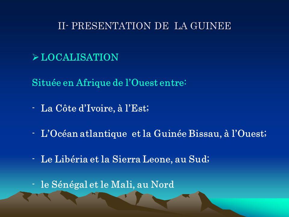 II- PRESENTATION DE LA GUINEE