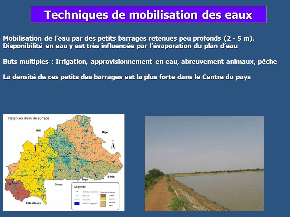 Techniques de mobilisation des eaux
