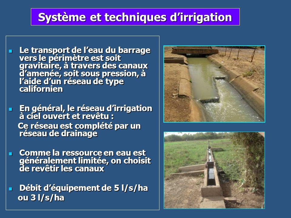 Système et techniques d'irrigation