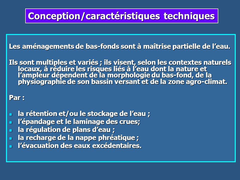 Conception/caractéristiques techniques