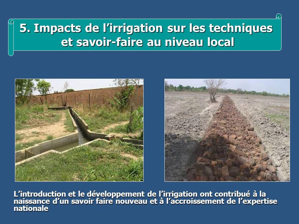 5. Impacts de l'irrigation sur les techniques