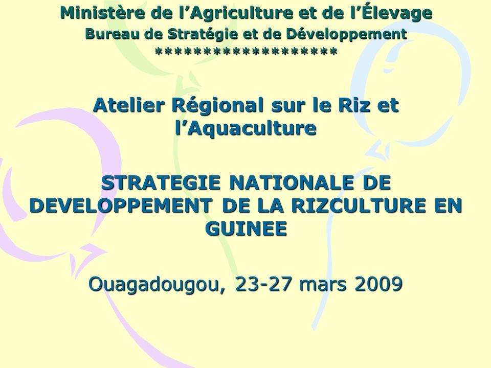 Atelier Régional sur le Riz et l'Aquaculture