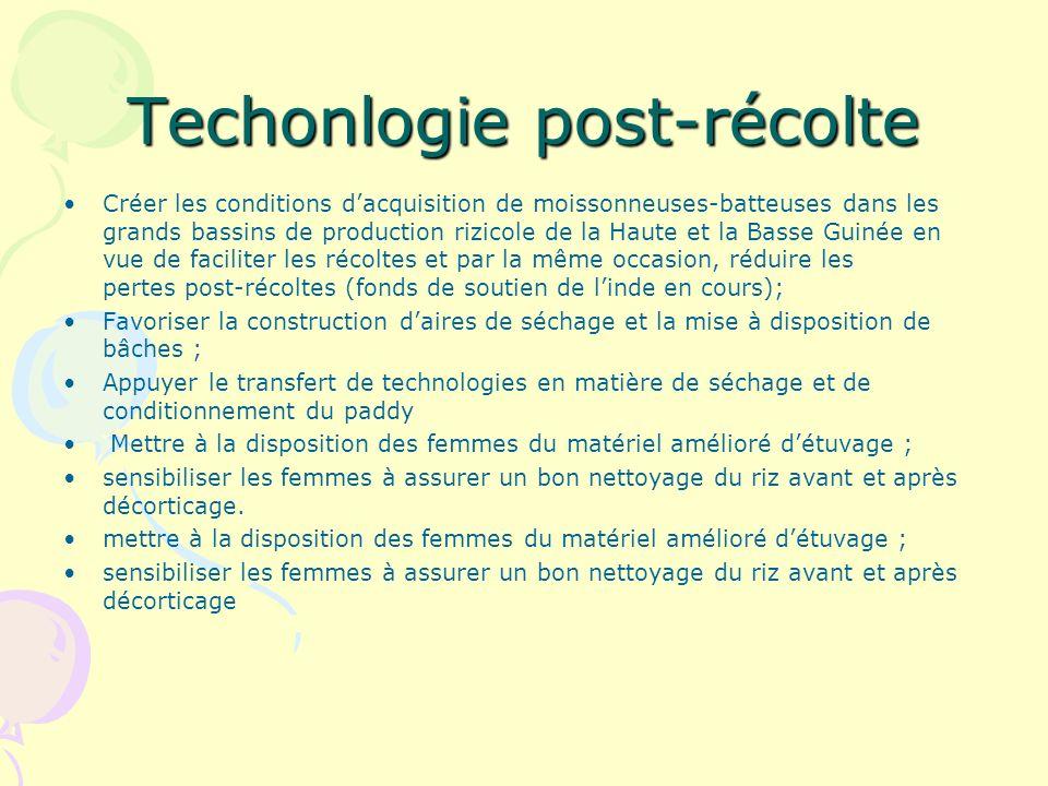 Techonlogie post-récolte