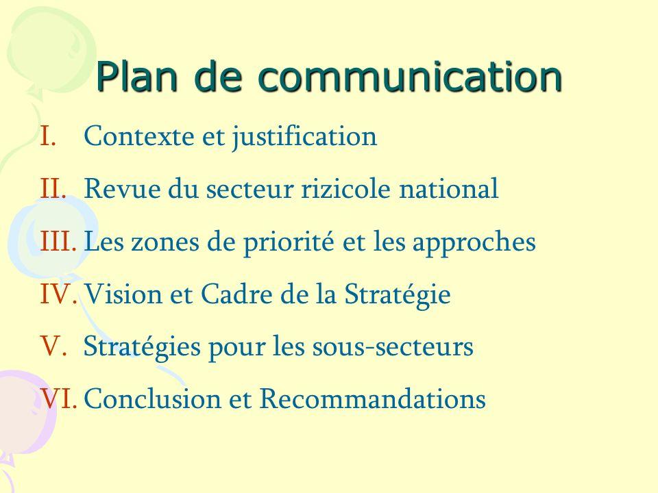 Plan de communication Contexte et justification