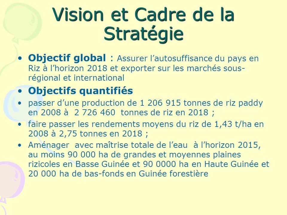 Vision et Cadre de la Stratégie