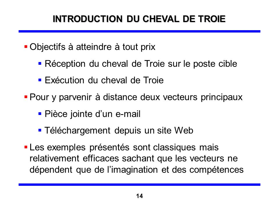 INTRODUCTION DU CHEVAL DE TROIE