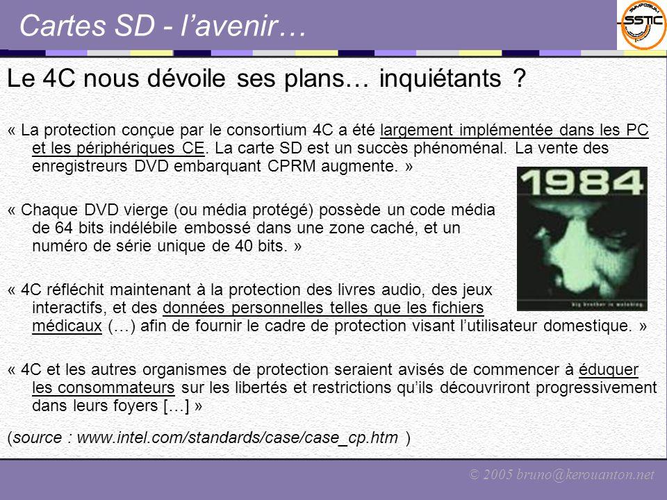 Cartes SD - l'avenir… Le 4C nous dévoile ses plans… inquiétants