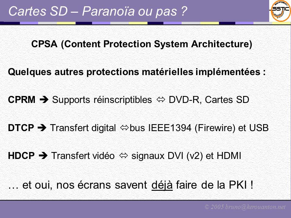 Cartes SD – Paranoïa ou pas