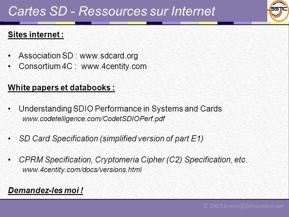 Cartes SD - Ressources sur Internet