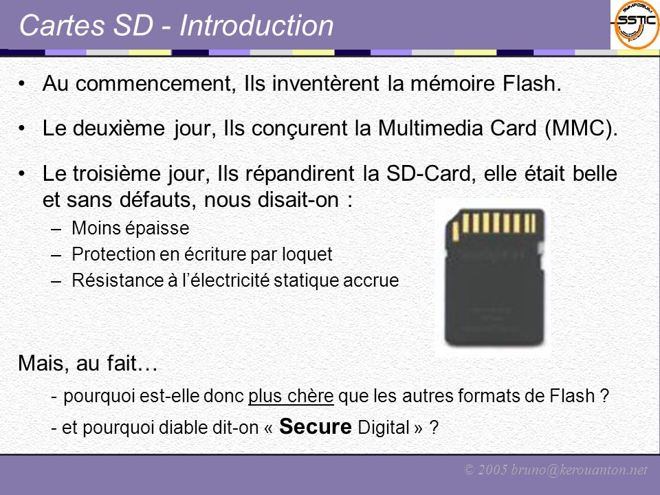 Cartes SD - Introduction