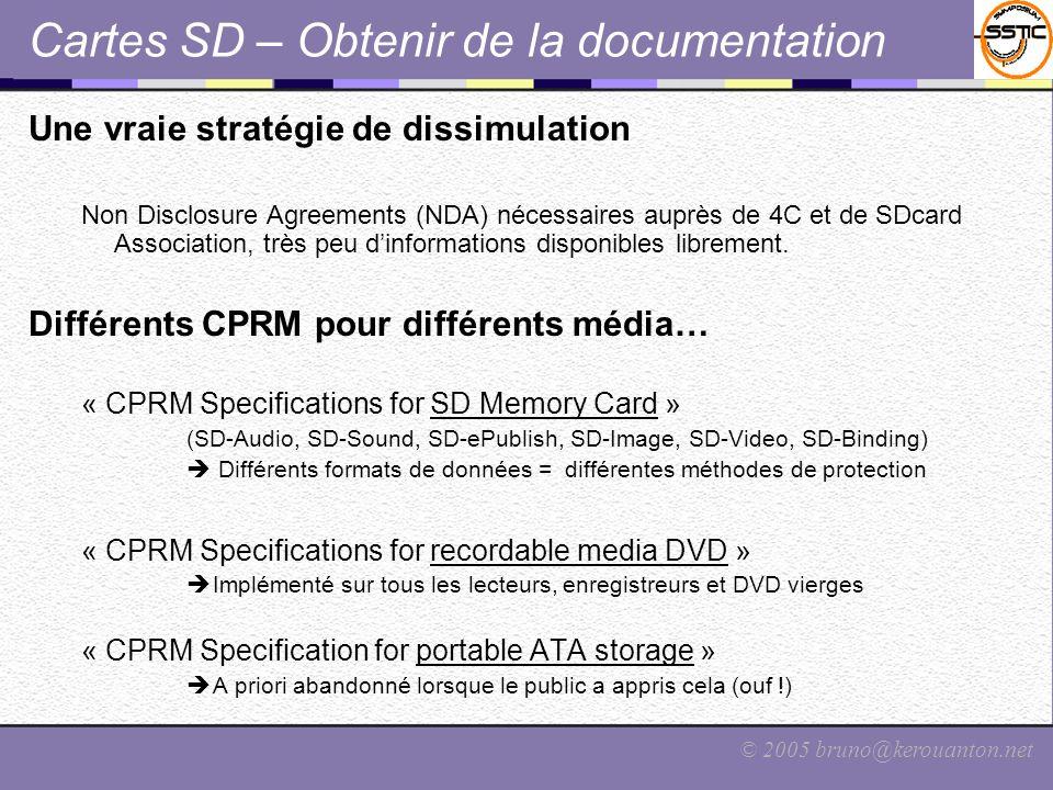 Cartes SD – Obtenir de la documentation