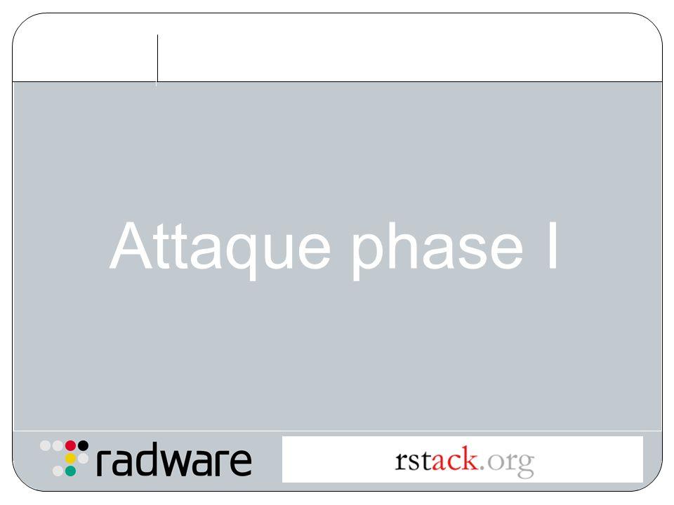 Attaque phase I