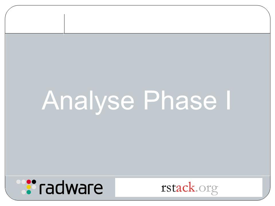 Analyse Phase I