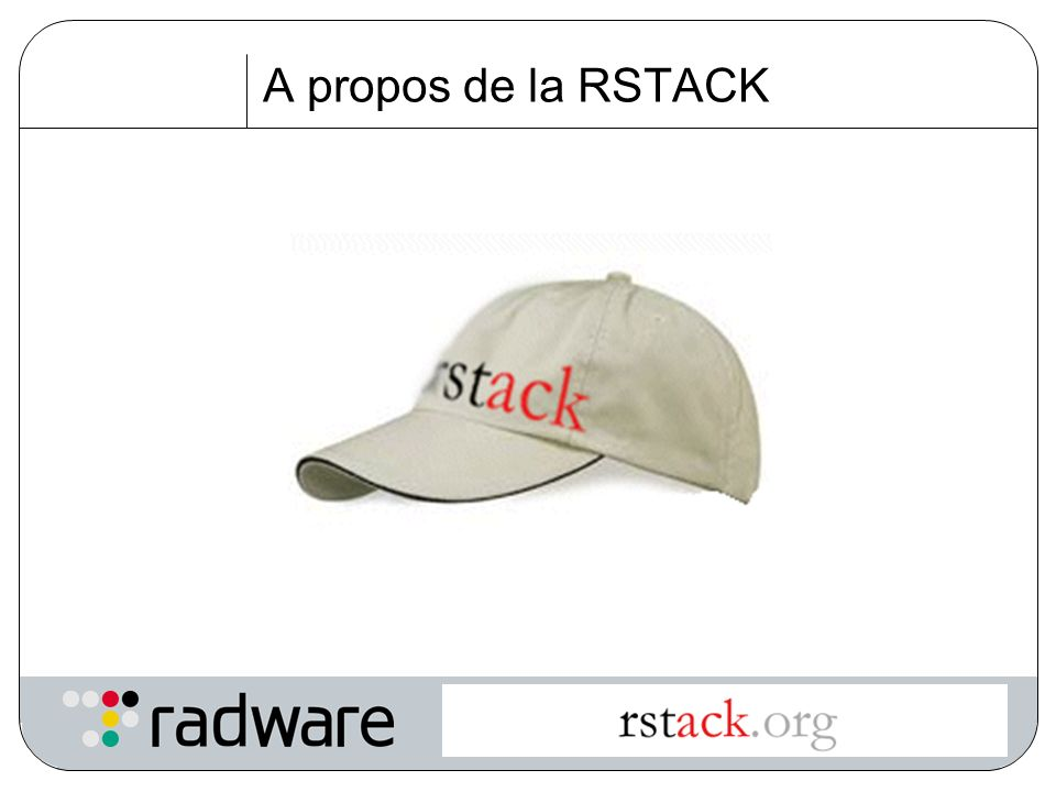 A propos de la RSTACK