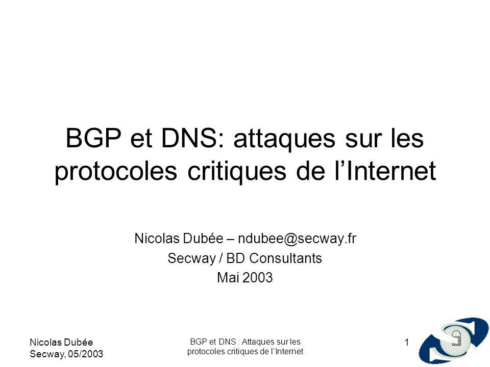 BGP et DNS: attaques sur les protocoles critiques de l'Internet