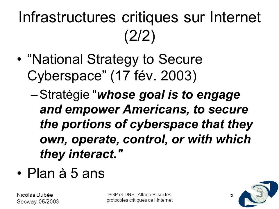 Infrastructures critiques sur Internet (2/2)