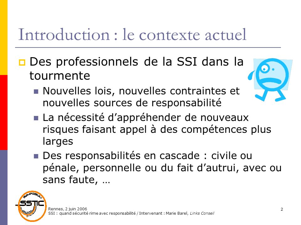 Introduction : le contexte actuel