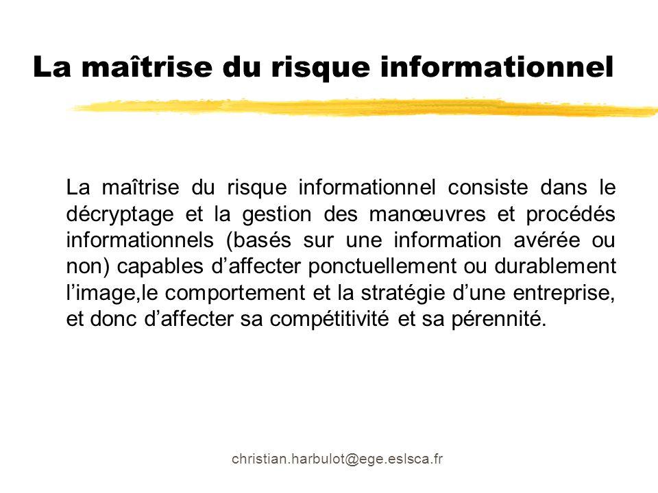 La maîtrise du risque informationnel