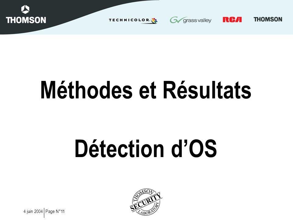 Méthodes et Résultats Détection d'OS