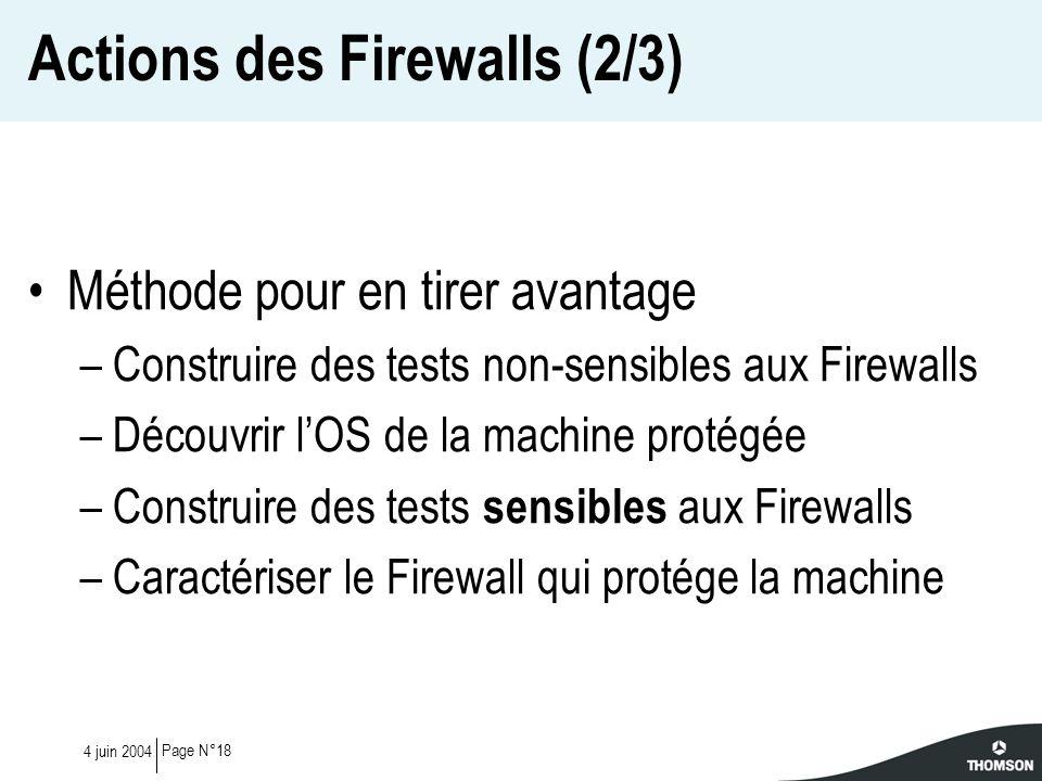 Actions des Firewalls (2/3)