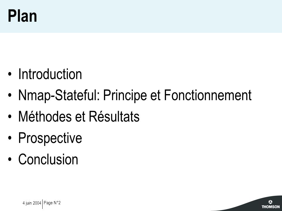 Plan Introduction Nmap-Stateful: Principe et Fonctionnement