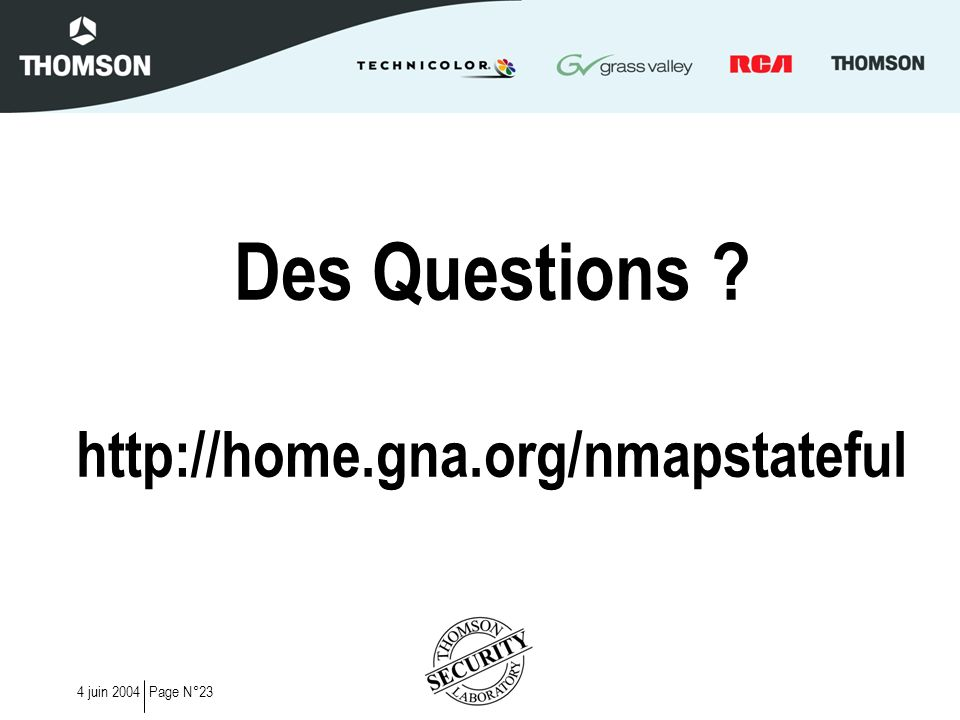 Des Questions http://home.gna.org/nmapstateful