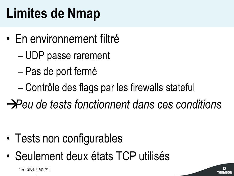 Limites de Nmap En environnement filtré