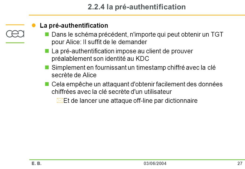 2.2.4 la pré-authentification