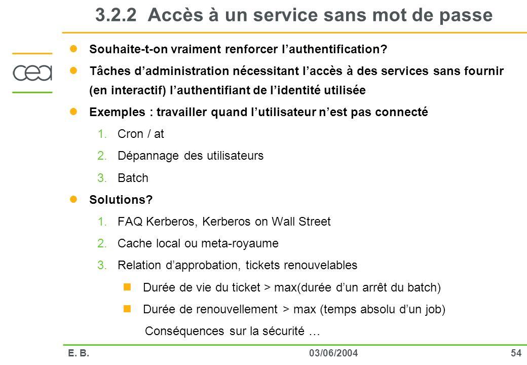 3.2.2 Accès à un service sans mot de passe