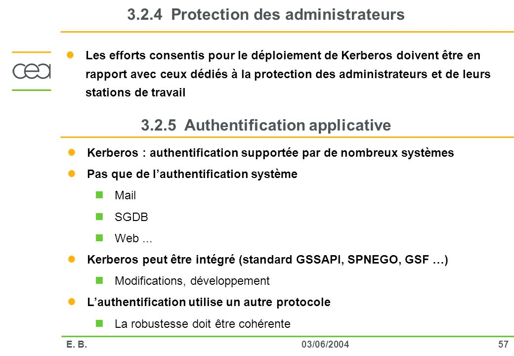 3.2.4 Protection des administrateurs