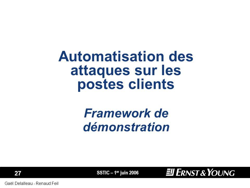 Automatisation des attaques sur les postes clients Framework de démonstration