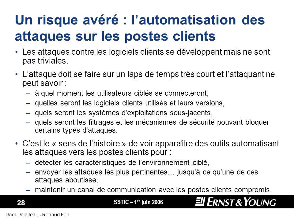 Un risque avéré : l'automatisation des attaques sur les postes clients