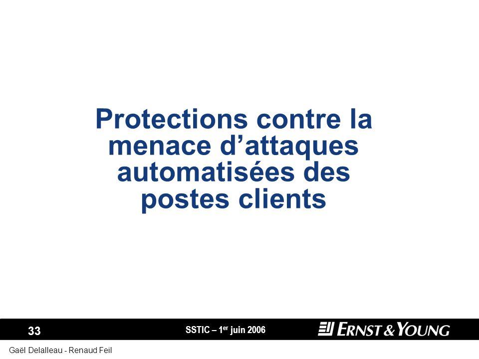 Protections contre la menace d'attaques automatisées des postes clients