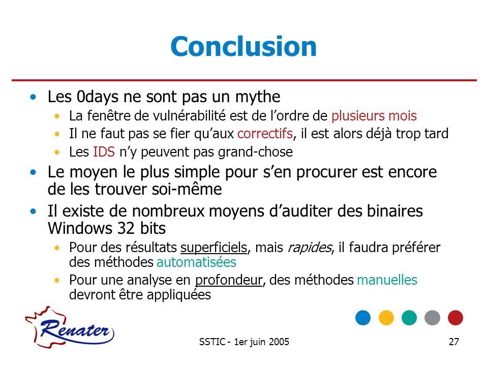 Conclusion Les 0days ne sont pas un mythe